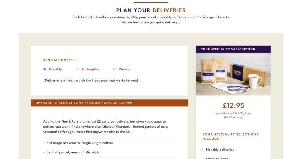 Union coffee subscription box