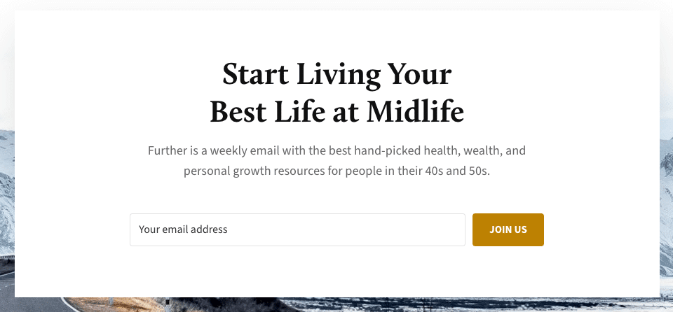 Further.net health and personal growth newsletter