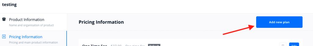 OptimizeCheckouts Add New Plan Button