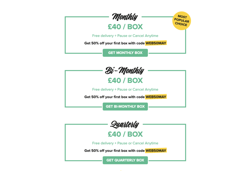 Craft Gin subscription box