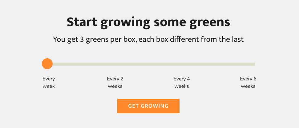 Silly greens subscription box
