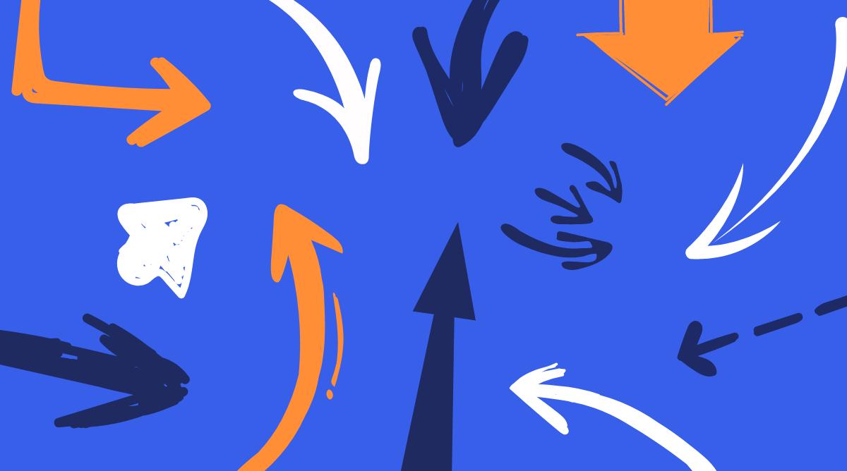 Hand Drawn Arrows Element
