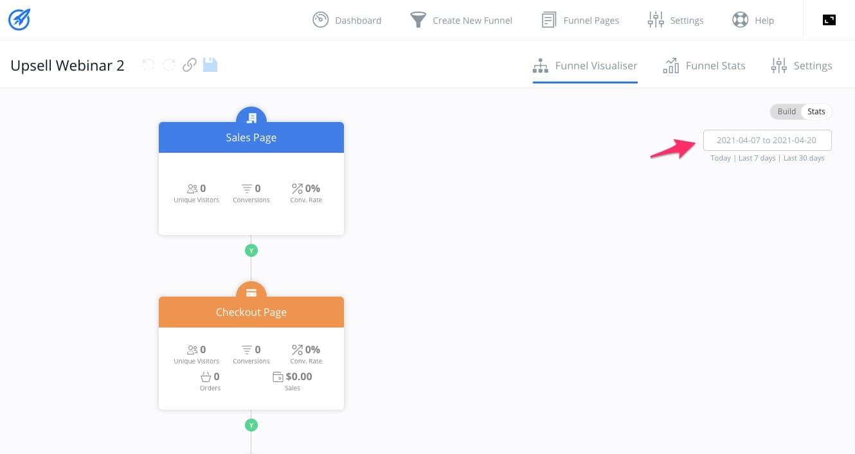 Funnel Visualiser Date Select