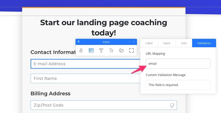 Email Field URL Mapping