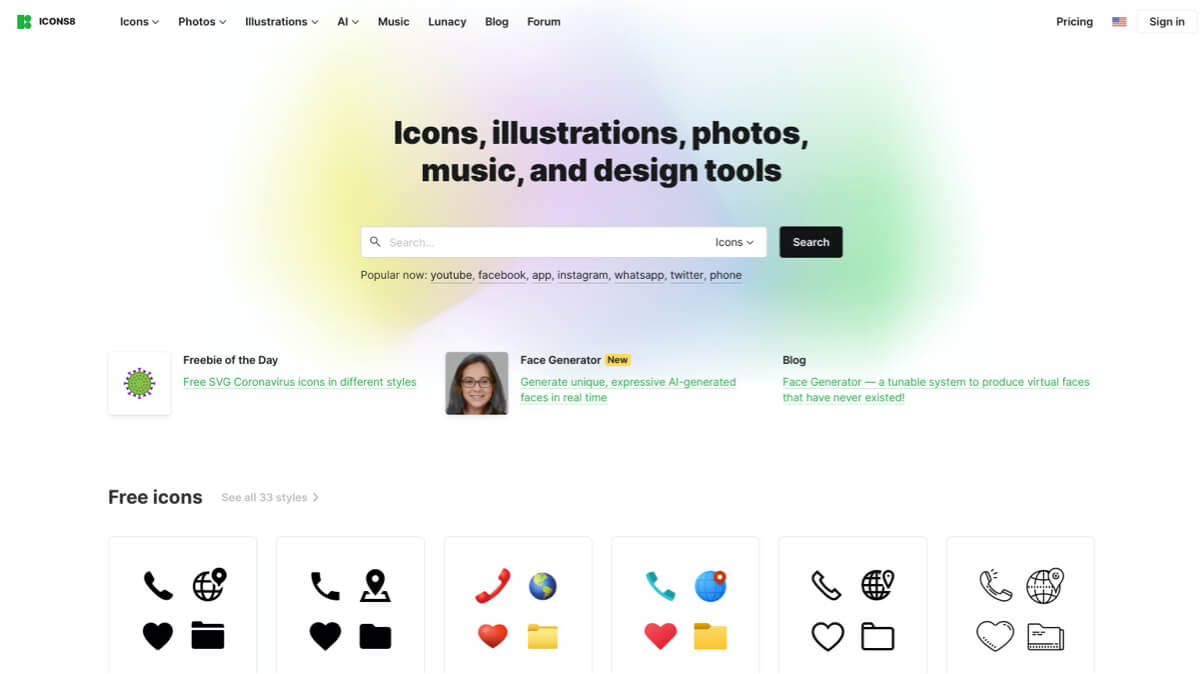 Icons8 Stock resources membership