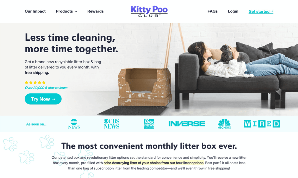 Kitty Poo Club Subscription Example