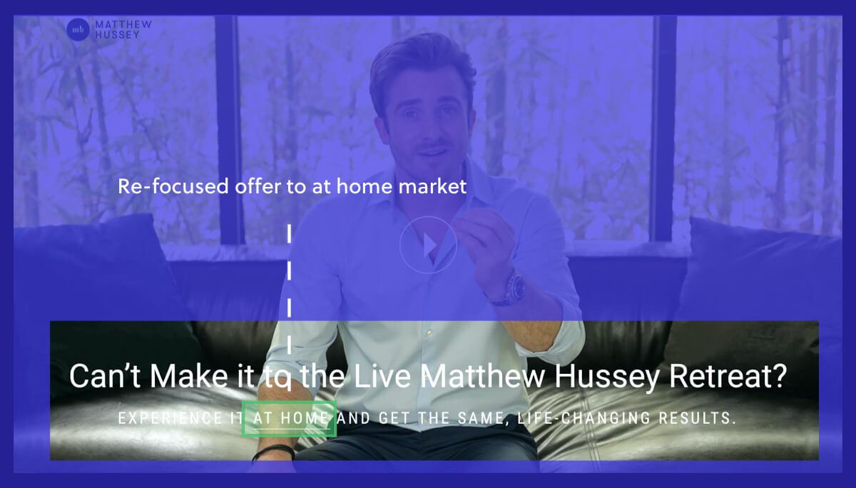 Matthew Hussey Retreat Offer