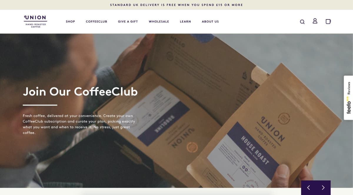 Coffee Subscription from Union Coffee
