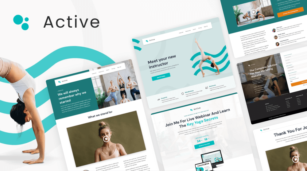 Personal trainer website template set